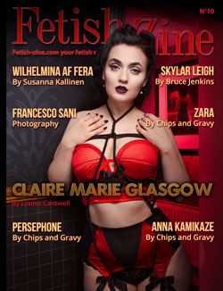Fetish-Zine 10 cover Claire Marie Glasgow by Louise Cantwell