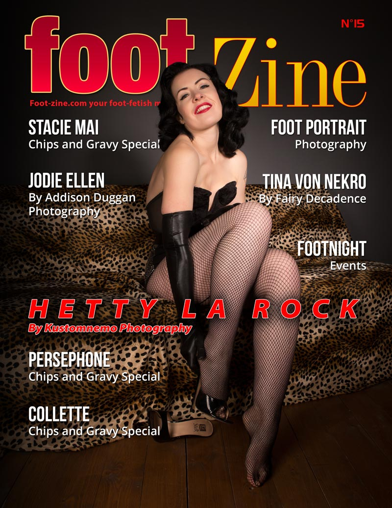 Foot-Zine 15 cover Hetty La Rock by Kustomnemo Photography