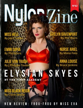 Nylon-Zine 62 cover Elysian Skyes by October Divine from The Pinup Academy