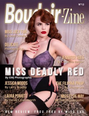 Boudoir-Zine 12 cover Miss Deadly Red by GWJ Photographic