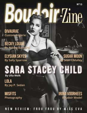 Boudoir-Zine 13 Cover with Sara Stacey Child by Ulla Wolk